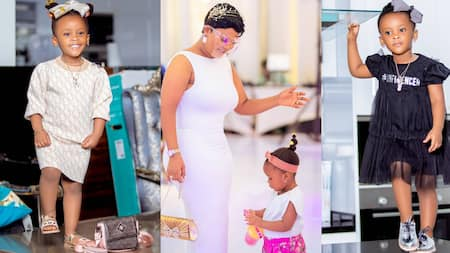 McBrown reveals the number of times doctors washed her womb before giving birth to Baby Maxin (video)