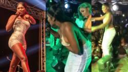 Yaa Jackson gives free show while performing Ehw3 Papa at Djwobeti's b'day jam; hot video drops