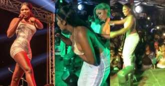 Yaa Jackson Gives Free Show While Performing Ehw3 Papa at Djwobeti's Birthday Jam