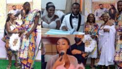 Awarepa: First photo from Despite Media's Abena Moet and husband's white wedding drops