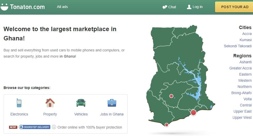 Tonaton: How to register and sell online in Ghana