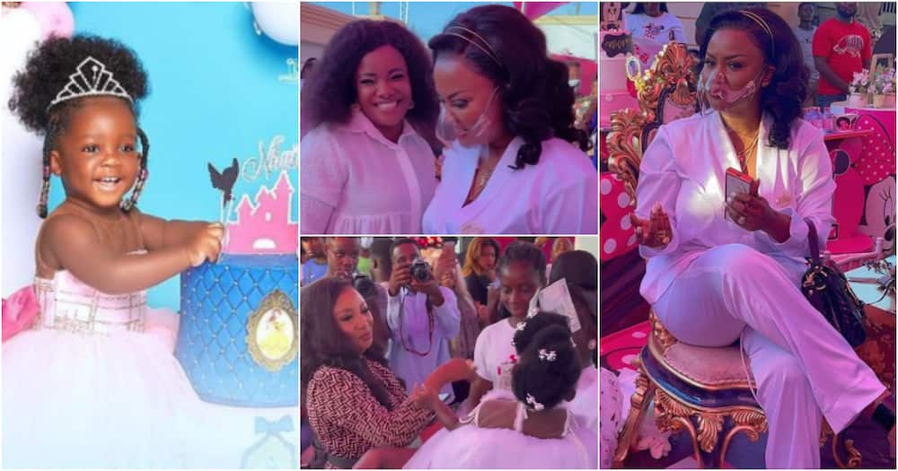 Nana Ama McBrown, Ohemaa Mercy, other stars, chill at lavish b'day party of Tracey Boakye's daughter