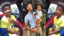 We are golden boys - Video of KiDi's son's cute reaction after hearing his name on dad's song warms hearts