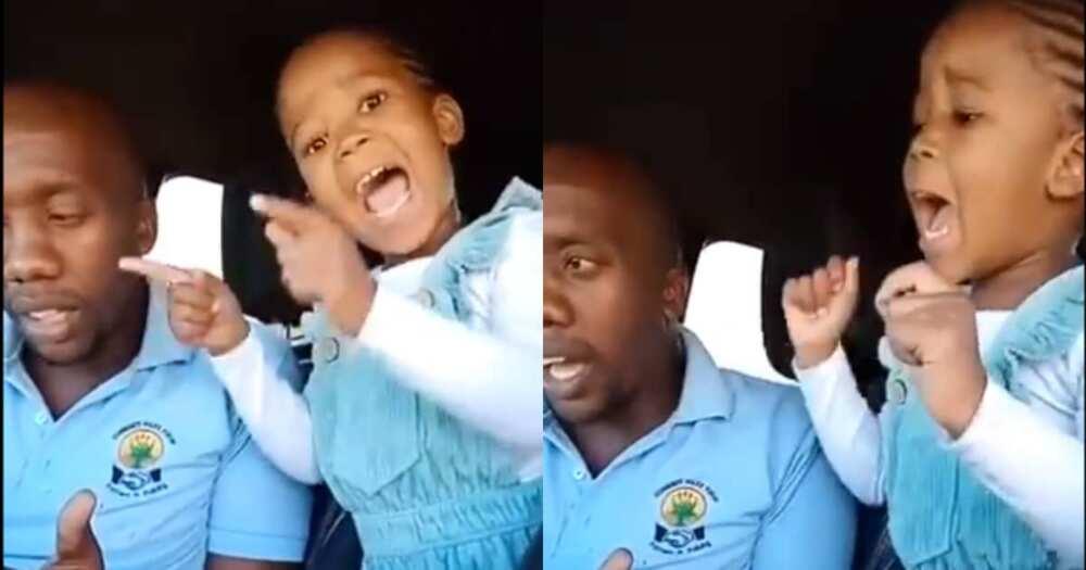 Little Girl Steals Hearts as She Sings Gospel Song Alongside Her Dad