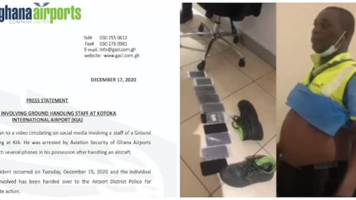 Update: Kotoka Airport worker caught stealing phones arrested by police