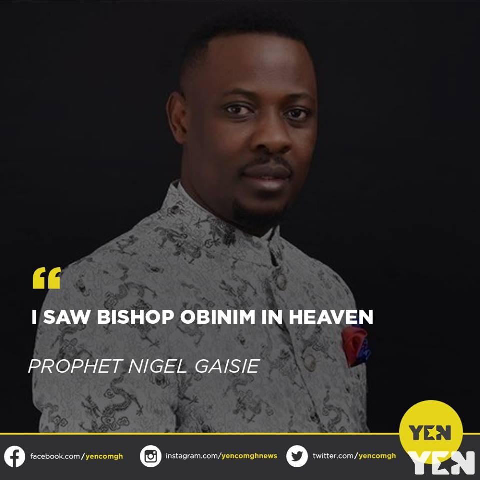 Ghanaians react to Prophet Nigel Gaisie's claim that he saw Bishop Daniel Obinim in heaven