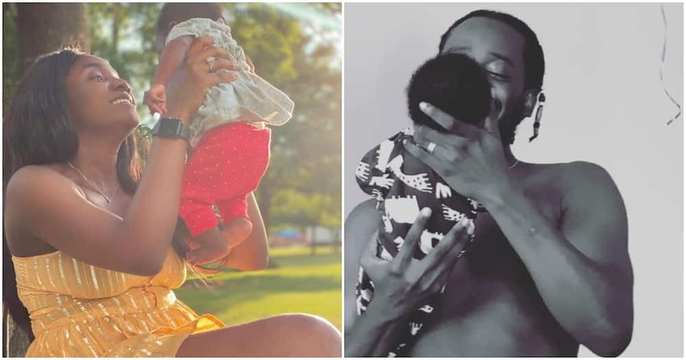 My whole world! - Adekunle Gold gets emotional as Simi shares new photo of their daughter