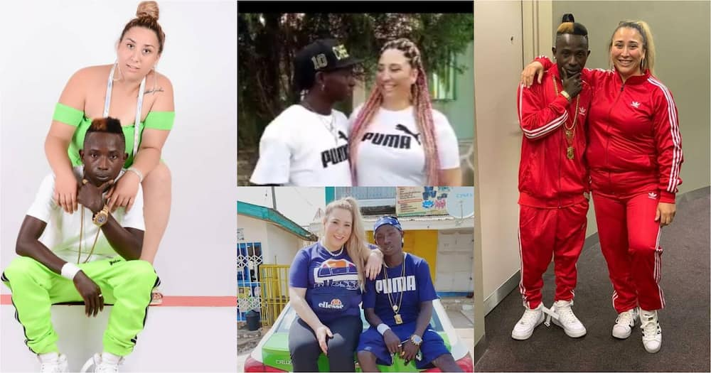 Patapaa and obroni wife expecting baby as Liha drops first ever baby bump video
