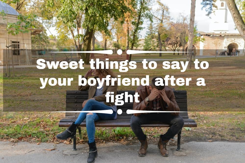 Sweet things to say to your boyfriend after a fight