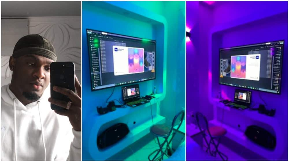 Young Man Stuns People with BeautifulOffice he Created inside his House, Photos Go Viral