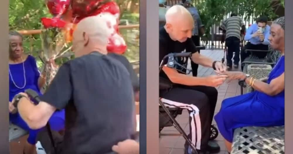 76-year-old man proposes to his 71-year-old long time girlfriend