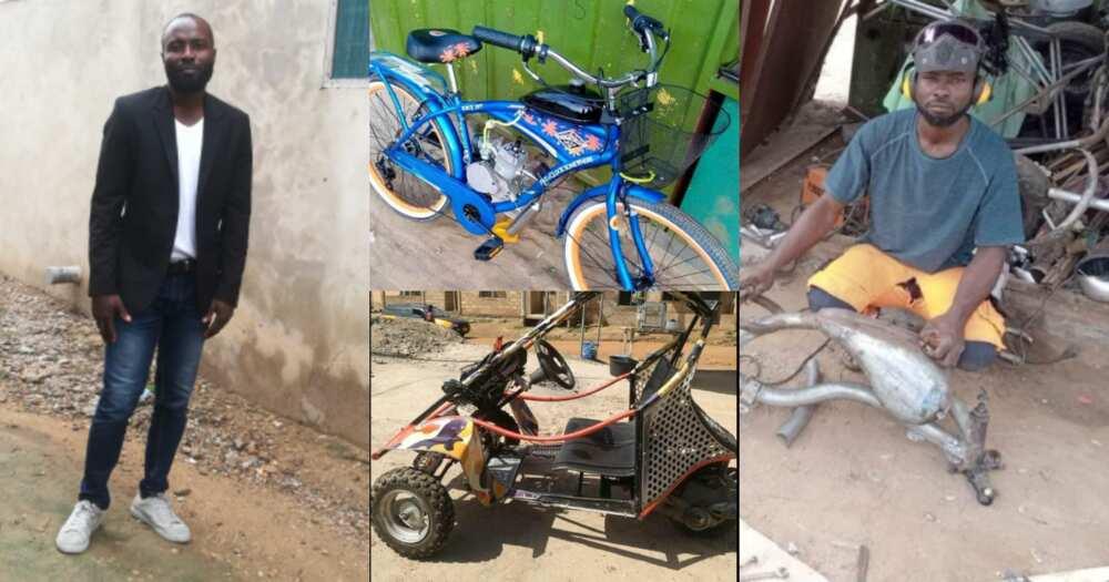 Ghanaian Builds Bikes from Scrap Metals