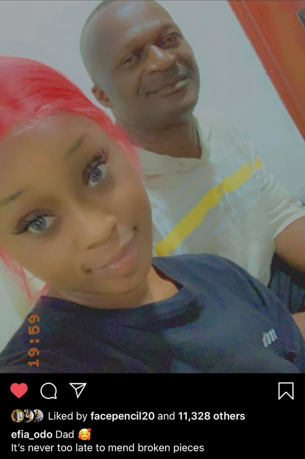 Efia Odo flaunts her father in new photo
