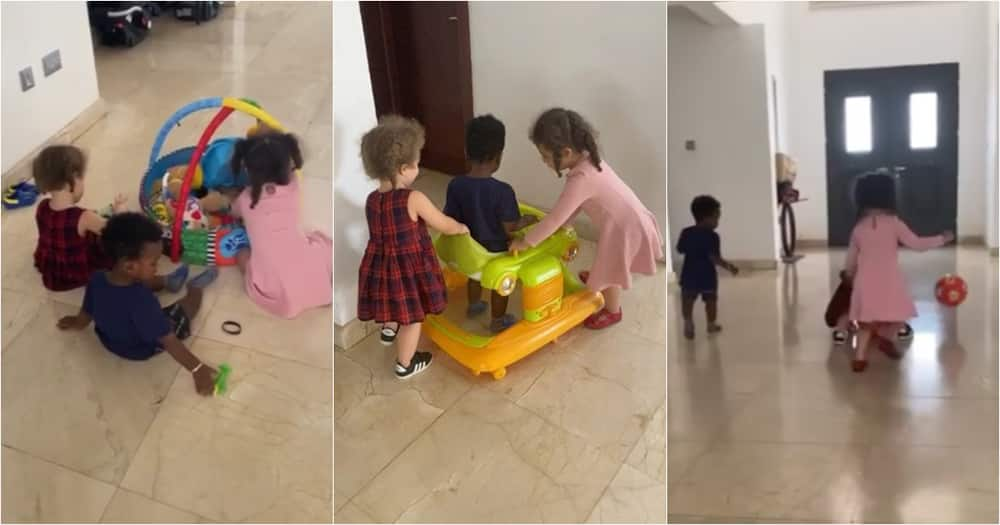 Dumelo's son and Nadia Buari's daughters play together in new video
