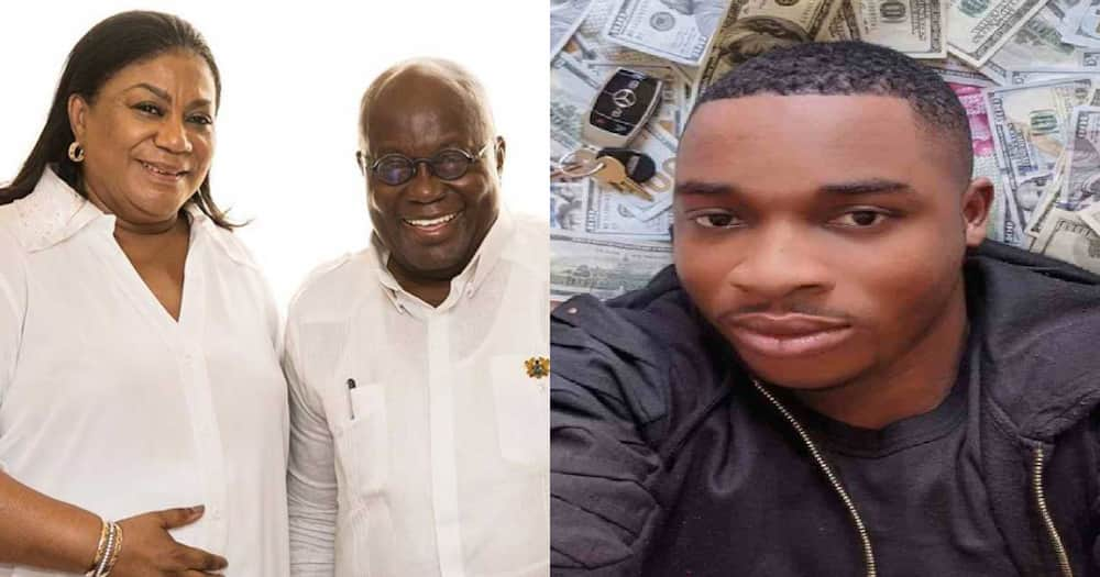 Divorce your wife if you can't take care of her; Twene Jonas slams Akufo-Addo over presidential spouses salary