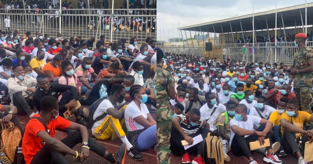 Thousands throng El-Wak Stadium to be recruited into the Ghana Armed Forces
