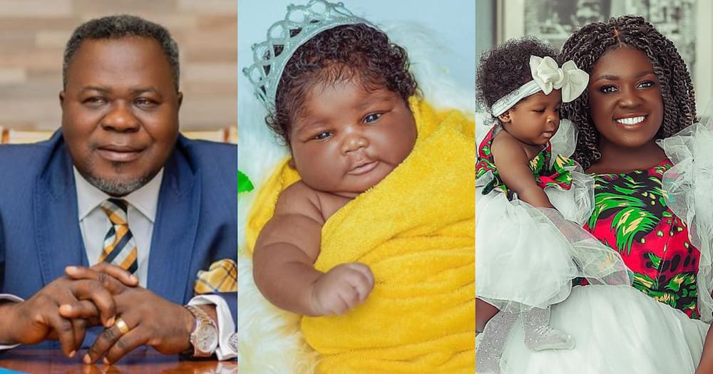 Tracey Boakye reacts to lady's claim about her age and Kwaku Oteng being her baby daddy