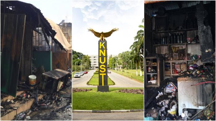 It was a mini market not Republic Hall - KNUST authorities clarifies Sunday's fire outbreak