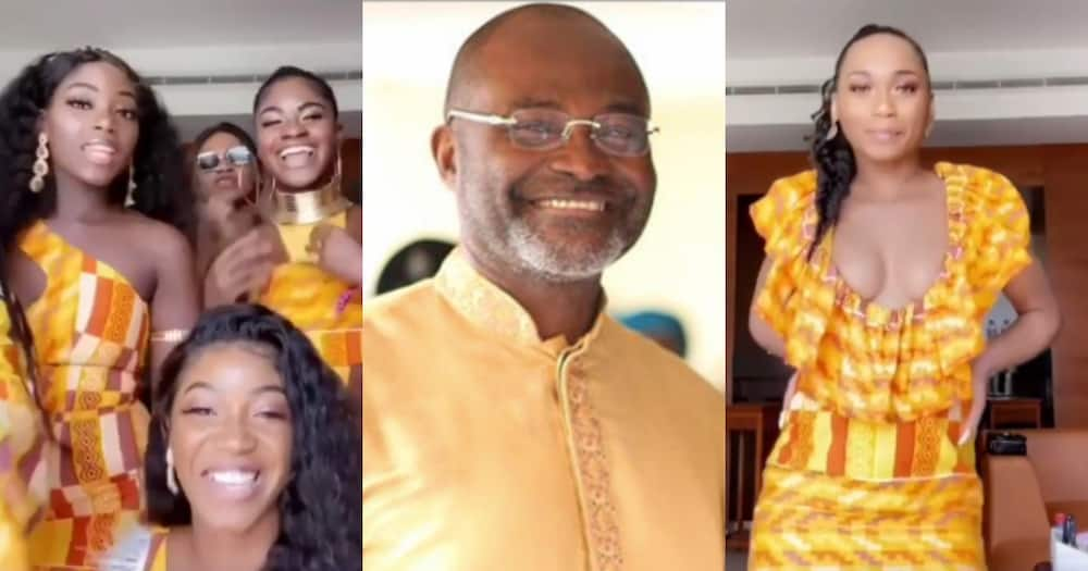 Ken Agyapong's daughters show off beauty in stunning kente as they drop their names
