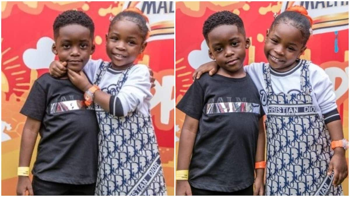 Tiwa Savage's son and Davido's daughter rock GHC 54K outfit to event (photos)