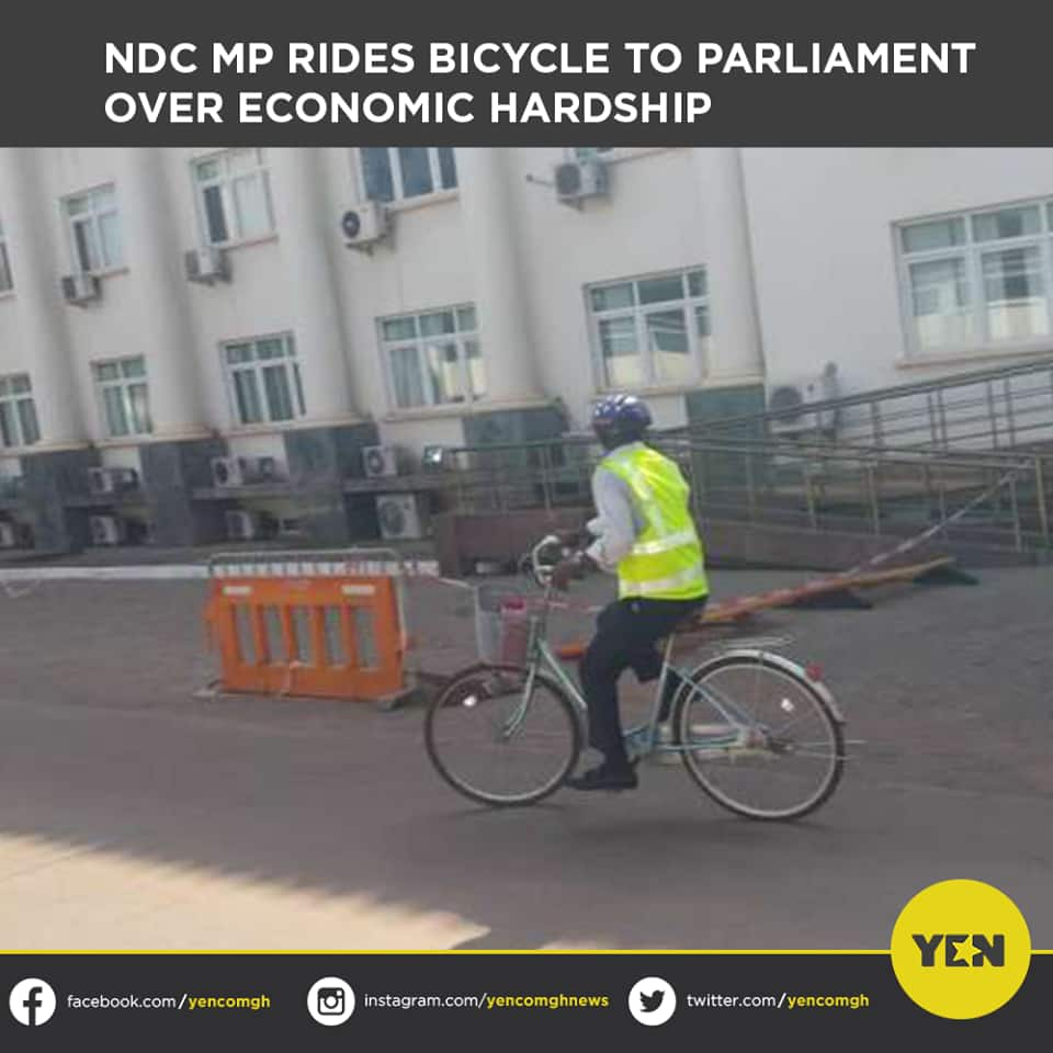 Internet users react to NDC MP's Ras Mubarak's 17km bicycle ride to parliament over fuel hikes