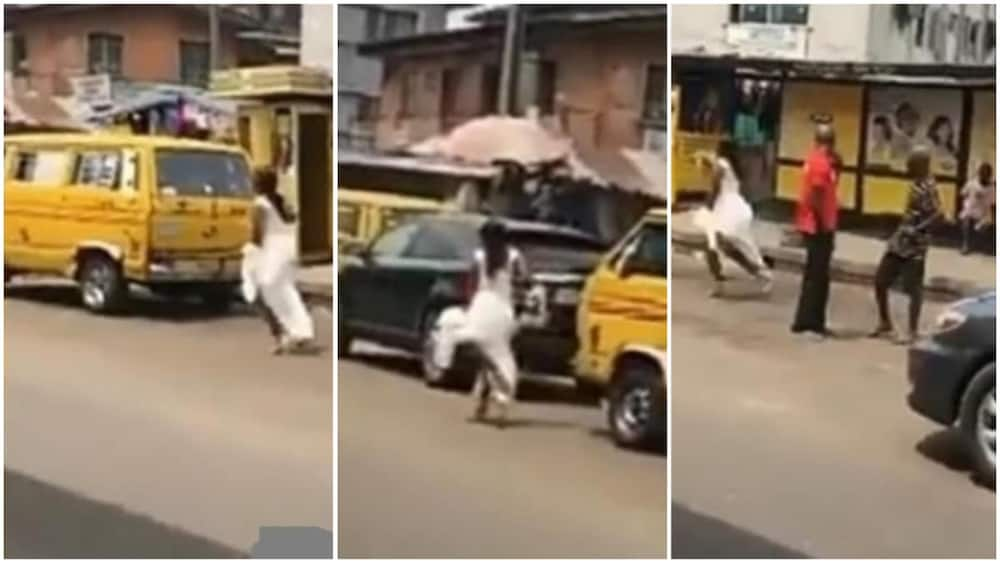 Viral video of bride screaming while running helplessly on the road