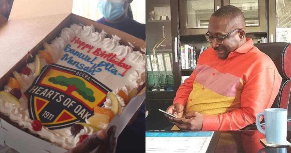 Hearts of Oak Presents Customized Birthday Cake to Citi FM's Sammens