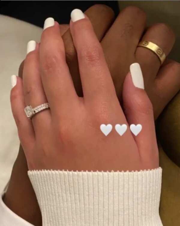 Shafik Mahama and wife Asma's wedding rings