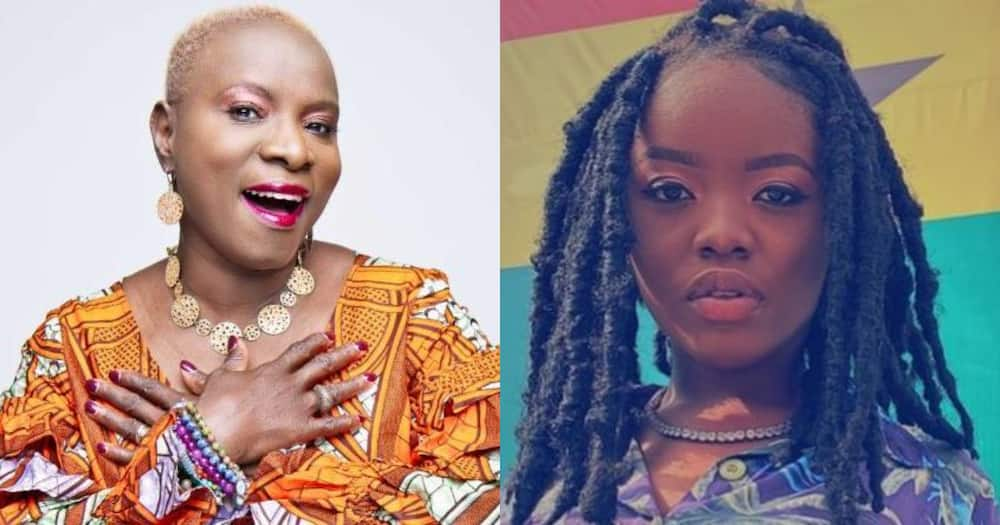 Gyakie can't keep calm as Grammy winner Angelique Kidjo introduces her at a music show