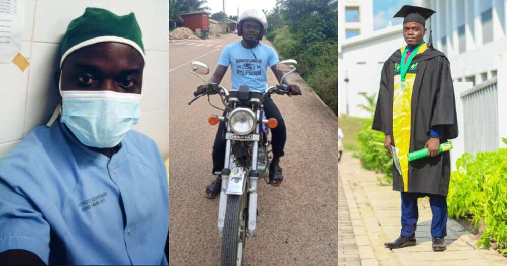 Wonder Jodocus: Meet the Ghanaian nurse with a degree working as okada driver