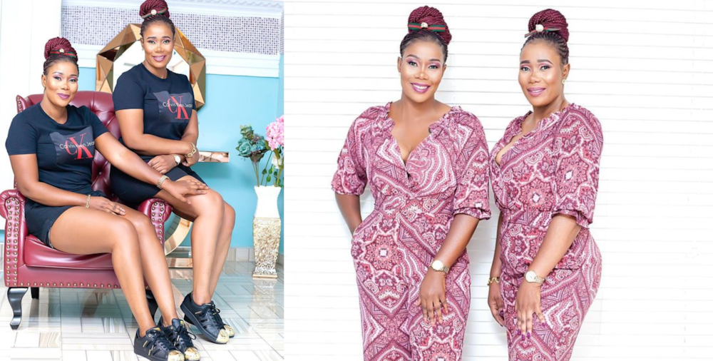 Borga Sylvia: Kumawood Actress Drops 10 Beautiful Photos With Her Twin Sister As They Step Out In Same Fashion