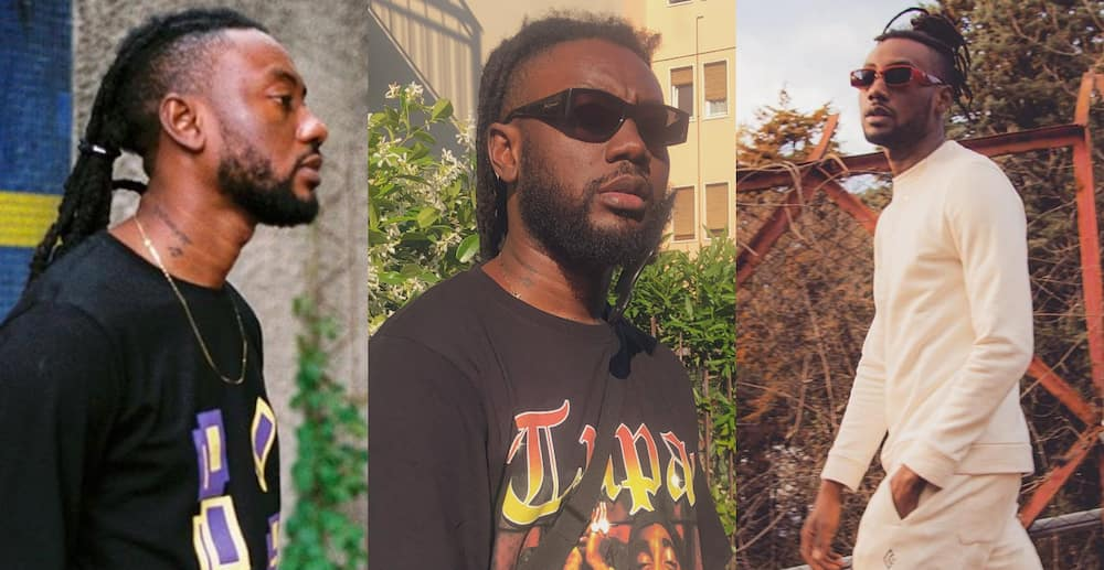 Pappy Kojo: Rapper looks 'obolo' has he come out of lockdown in new photos