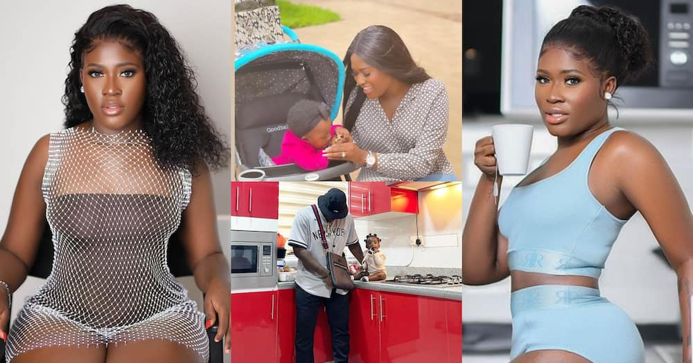Island Frimpong: Latest Video Of Fella Makafui And Medikal's Daughter Stirs Debate Over Who She Looks Like