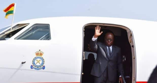 Akufo-Addo travels again less than 48 hours after returning from a trip