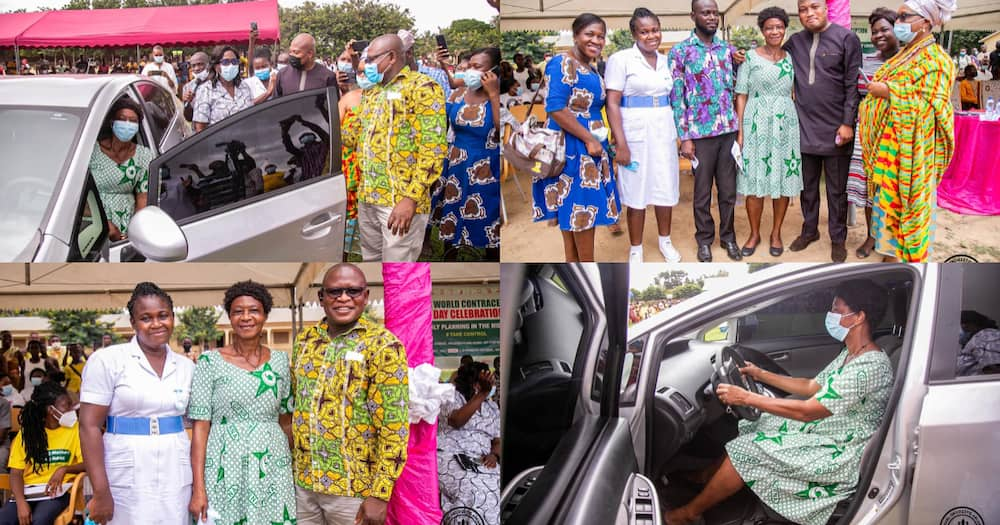 Ablakwa gifts longest serving midwife in North Tongu with car (photos)