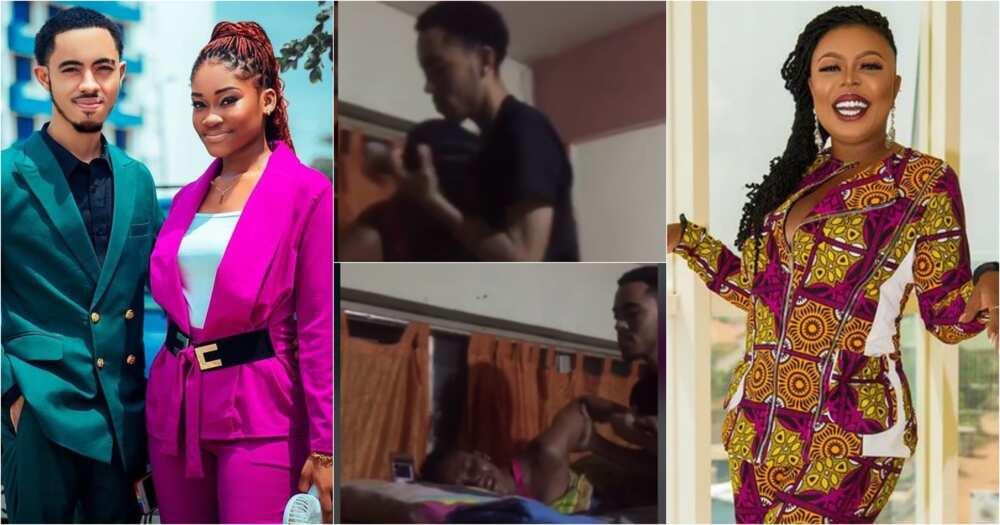 Naa Koshie: Girlfriend Of Afia Schwar's Twin Son James Ian Weeps As He Visits On Her Birthday (Video)