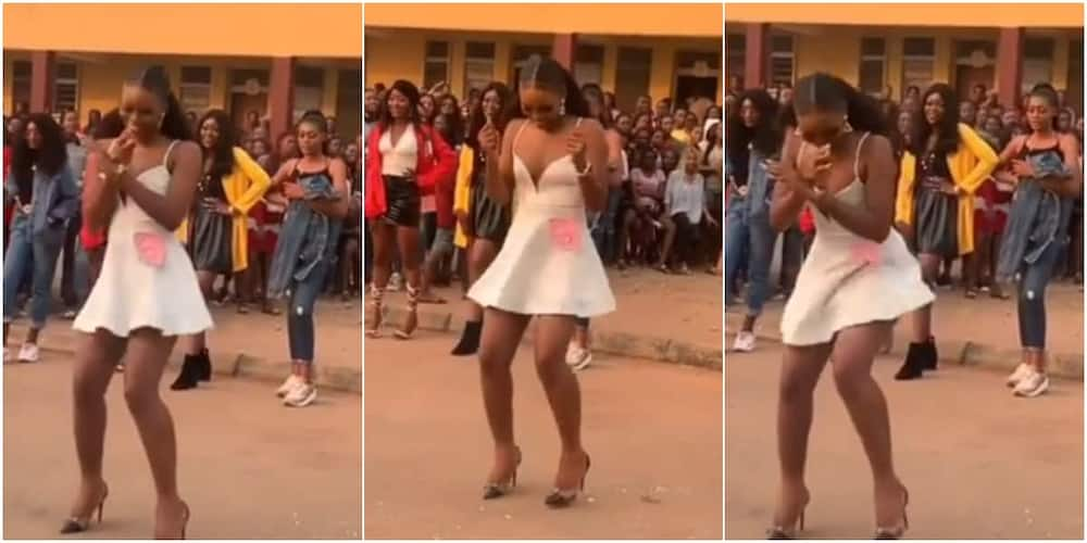 The Nigerian lady wowed many with her dancing skills.