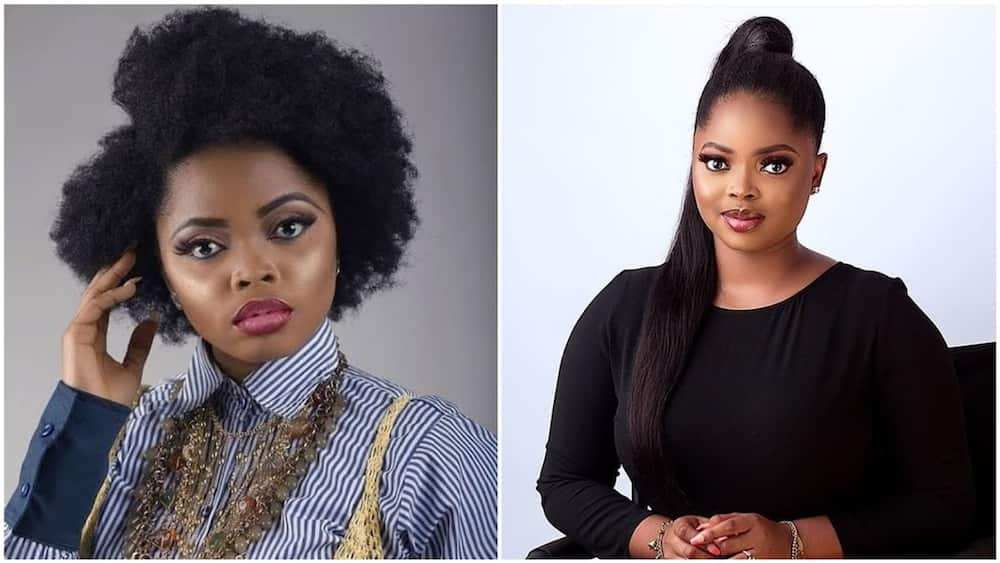 A collage of the Nollywood actress. Photo source: PM News