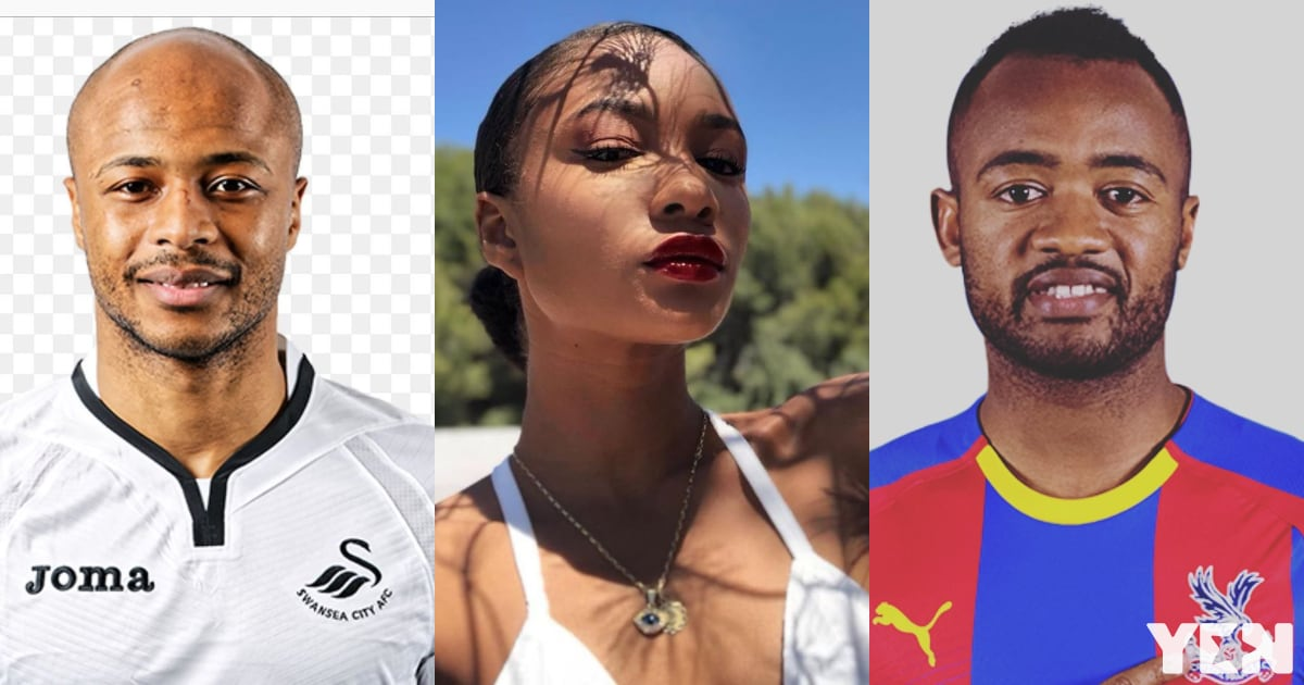 Imani Ayew reacts after her 2 brothers scoring against Benin at AFCON