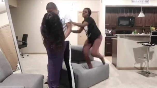 Girlfriend displays serious karate skills in video after seeing her man with 'side chic'