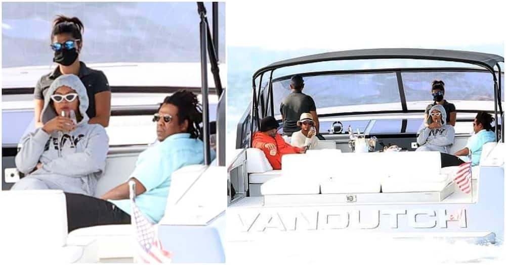 Beyonce and Jay-Z spotted cruising in small boat weeks after her 39th birthday (photos)
