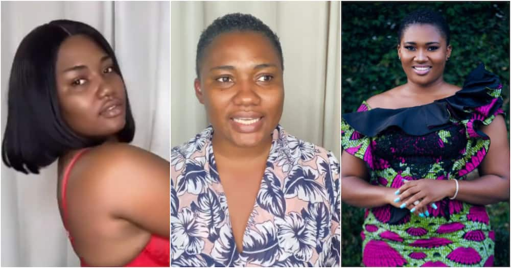 I am strong - Abena Korkor reveals as she drops new spicy photo and no-makeup video after her sack from TV3