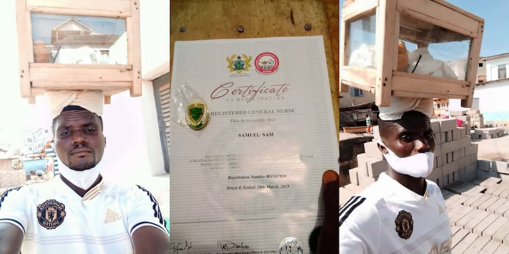 Qualified Ghanaian nurse who sells 'bofrot' for a living shares inspiring story (Photos)