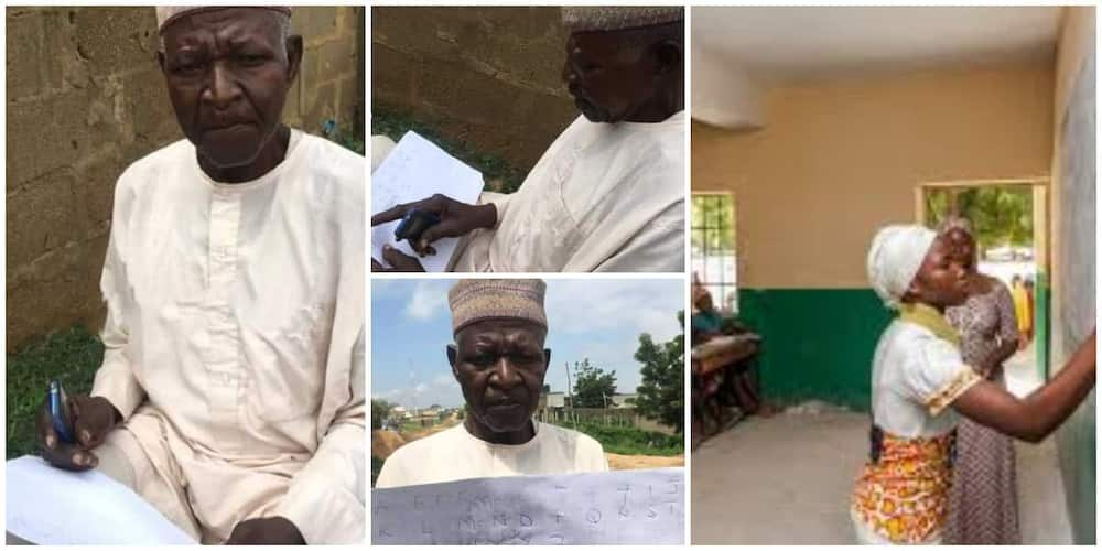 62-year-old illiterate Nigerian man says he wants to know ABC before the end of his life
