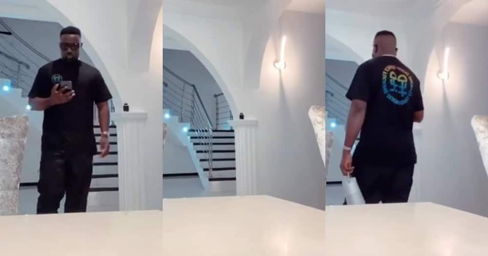 Sarkodie shows off his expensive living room in new video