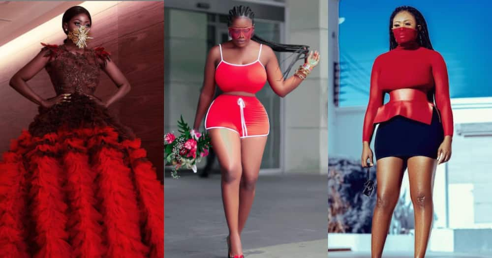 Nana Akua Addo flaunts her curves and fine legs in red-themed wear ahead of Val's Day