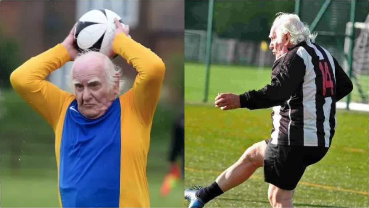 Meet Britain's oldest footballer who is looking for a new club at 83; photos drop