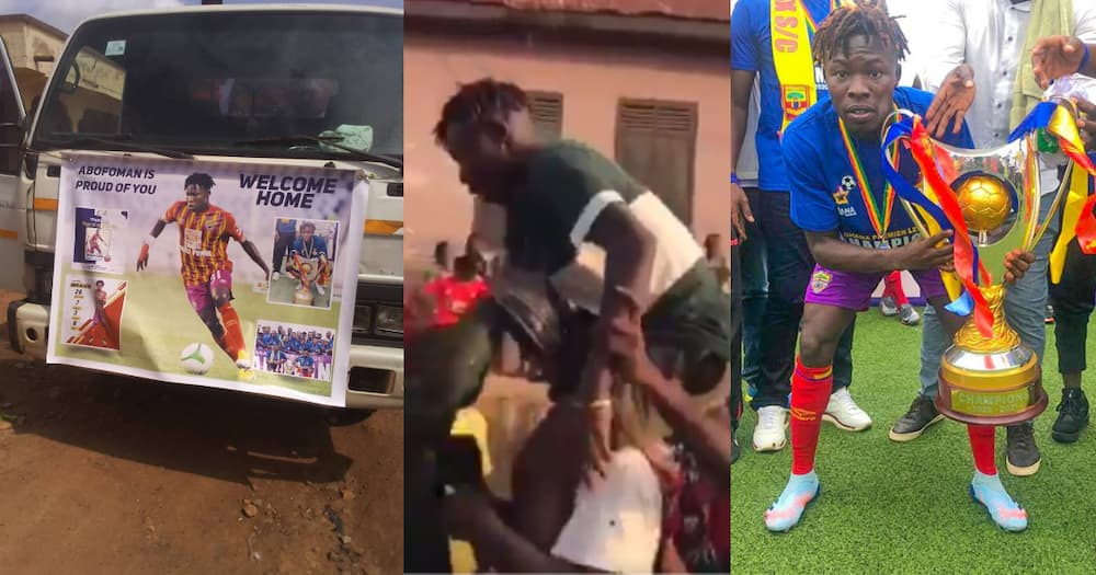 Hearts star Ibrahim Salifu receives heroic welcome in Abofuor after GPL success