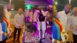 Obofour shows wealth at Owusu Bempah's 52nd birthday as he sprays loads of cash (videos)