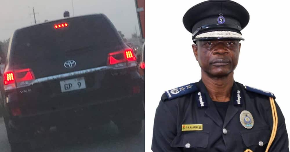 Photo of disciplined top police officer who did not to jump traffic with his siren pops up